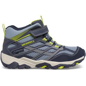Merrell Moab FST Mid A/C Waterproof Shoes Kids, navy/china blue